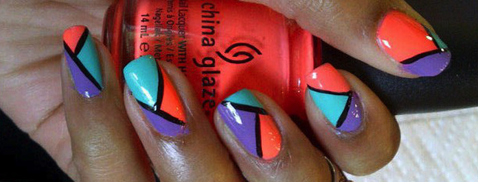 DIY Amazing Neon Coloured Nail Art