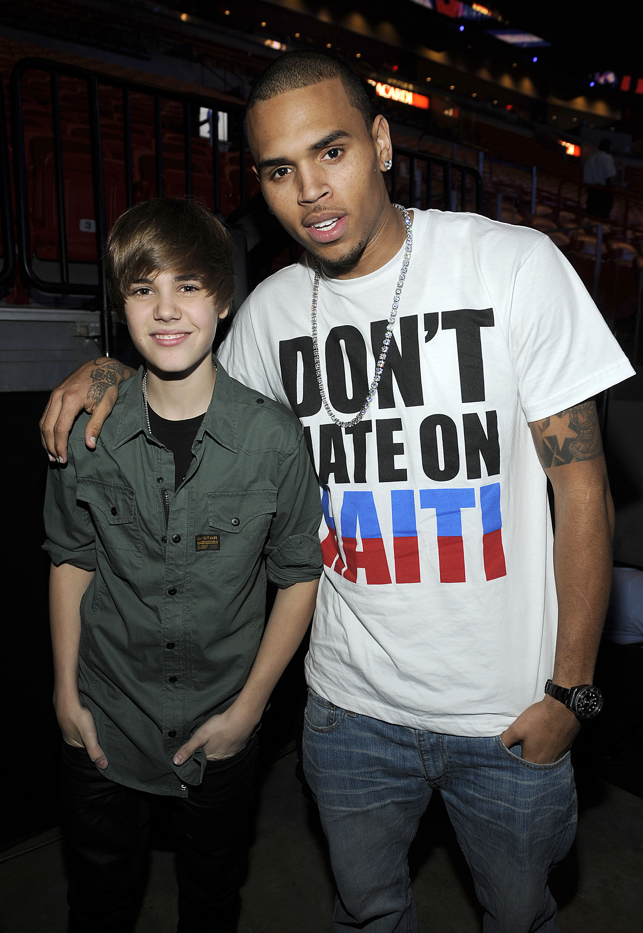 chirs brown and justin bieber