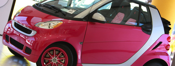 Exclusive Limited Edition Pink Smart Car