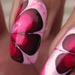 DIY Pretty Pink Flower Marble Nails