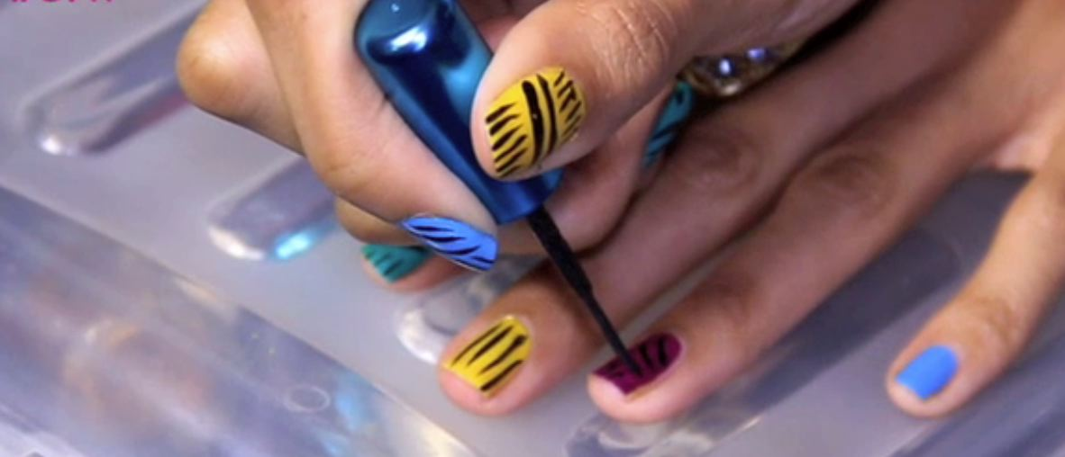Ten tribes of colour nail design