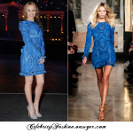 KYLIE MINOGUE IN EMILIO PUCCI BLUE EMBROIDERED DRESS