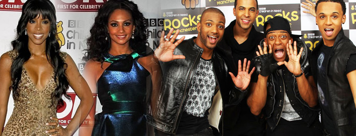 BBC Children In Need Celebs & JLS Take A Chance On Me/She Makes Me Wanna