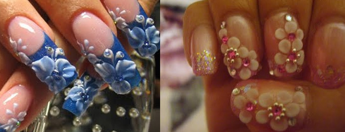 HOW TO DO 3D NAIL ART CUTE BOW LACE