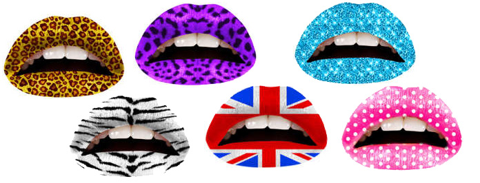 Hottest New Lip Trend- Temporary Tattoos By Violent Lips