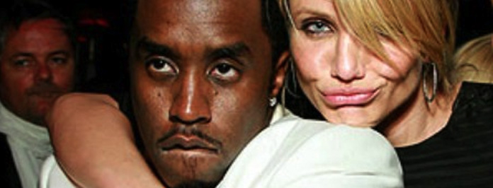Hot Couple Alert- P.Diddy & Cameron Diaz Spotted Snogging