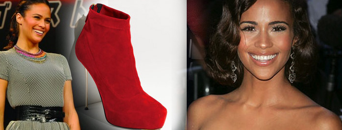 Shop The Look: Paula Patton's Brian Atwood Metal Heel Platform Booties