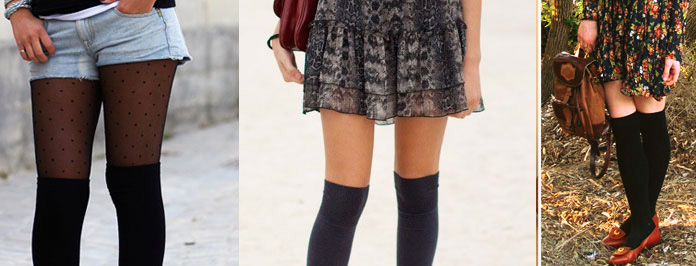 kneehigh socks fashion lookbook