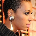 solange short afro natural hair curls