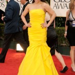 The 69th Annual Golden Globes Red Carpet Mission Impossible star and presenter for the night Paula Patton