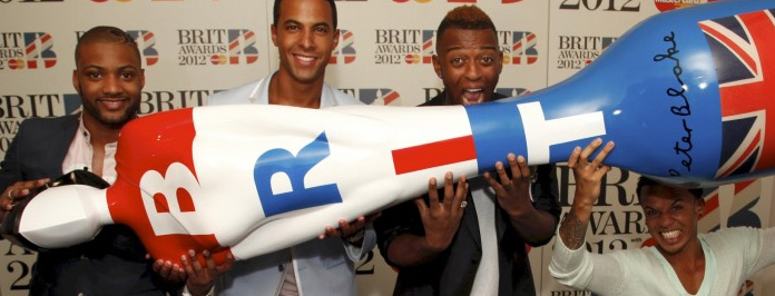 Brit Awards 2012 Celebrity Red Carpet JLS Interview