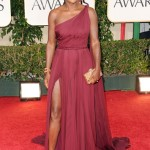 The 69th Annual Golden Globes Red Carpet Viola Davis, nominee for Best Performance the help