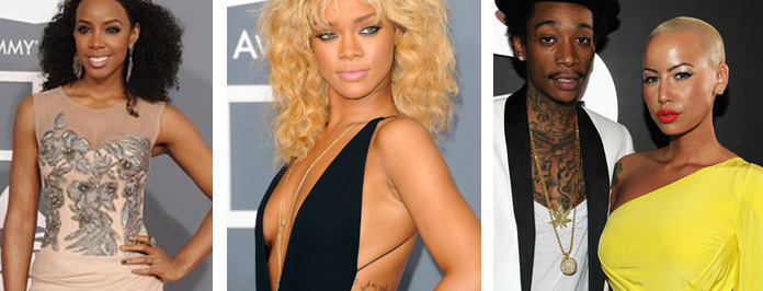 Fabulous 54th Annual Grammy Awards Red Carpet Outfits, Amber Rose, Rihanna, Kelly Rowland etc