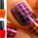 Rainbow Houndstooth Konad Nail Art Tutorial