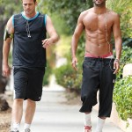 Actor  Ricky Whittle Topless LA Workout!