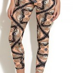 newlook: Black Scarf Print Leggings £12.99