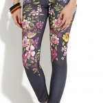 newlook: Grey Floral Leggings £14.99