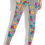 newlook: Urban Bliss Floral Stripe Leggings £12.99