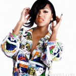 Actress Meagan Good, rolling out magazine