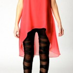 boohoo.com Grace Criss Cross Mesh Insert Wet Look Leggings £15