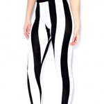 boohoo.com Meg Monochrome Wide Stripe Leggings £8