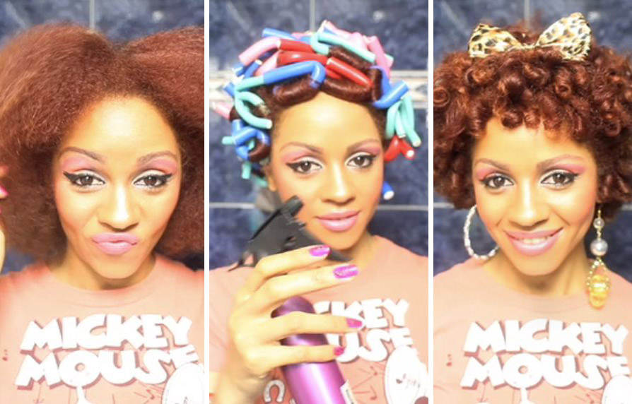Natural Hair Journey: Fast Flexi Rod Curls Tutorial