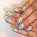 blue summer nail art ideas
