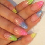 summer nail art ideas colourful tips