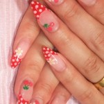 summer nail art ideas ploka dots