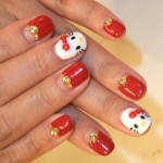 summer nail art ideas hello kitty