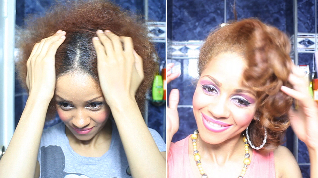 Natural Hair Journey: Roots Re Growth, Dark & Lovely Honey Blonde
