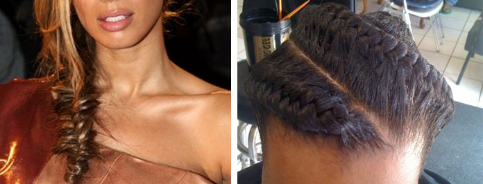 Side French Braid With Micro Braids Tutorial