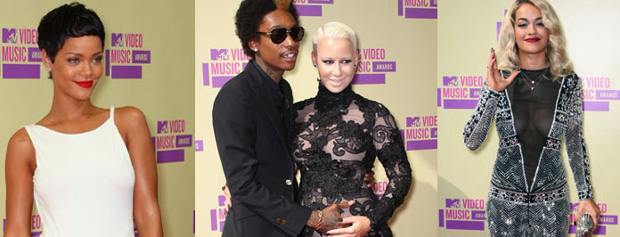 2012 MTV Video Music Awards Celeb Red Carpet Fashion