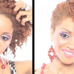 Natural Hair TV: 2 Strand Twistout Updo With 3 Evening Dresses