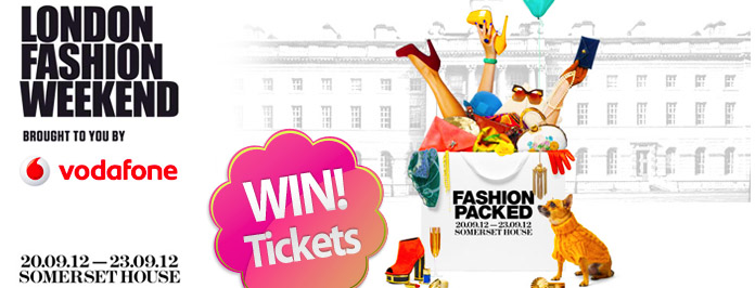 VODAFONE LONDON FASHION WEEKEND TICKET GIVEAWAY (closed)