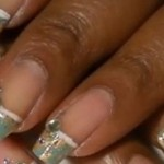 African Jade Nail Foil French Manicure Nail Tutorial