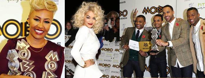 Mobo's 2012 Winners, Well Done Emili Sande Triple Award Win!
