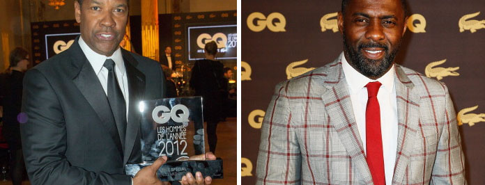 Idris & Denzel: GQ Men Of The Year Awards Paris 2013
