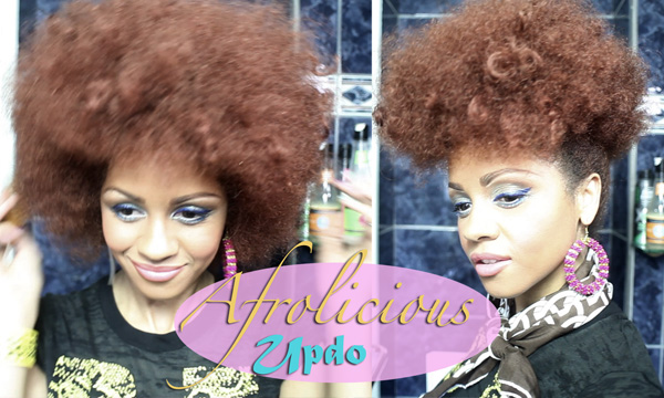Natural Hair-style:  Afrolicious Updo