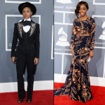 Janelle-Monae-and-Estelle-2013-Grammy-Awards