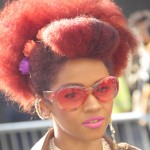 peeks_red afro