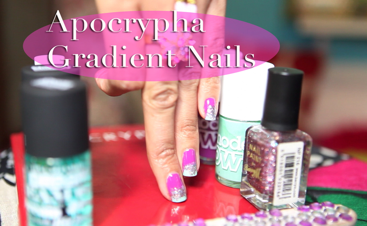 Apocrypha Nail Art: Funky Gradient Glitter Nails