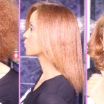 Natural Hair Journey:Afro Blow Out to Sleek length check and to Bouncy Curls