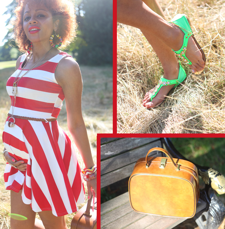 Red Alert: Slimming Stripes Summer Maternity Lookbook