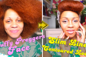 Puffy Pregnancy Face To Slimmer Fresh Contoured Face With  Makeup Secrets!