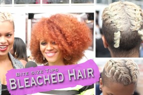 Bite Size: How To Correctly Bleach Afro/Relaxed Hair Professional Tips