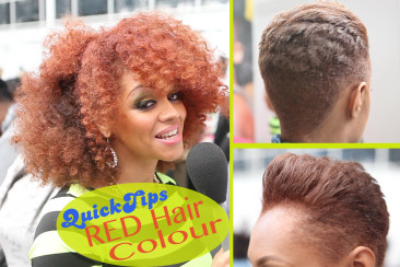 Quick Tips: Dying Afro/Relaxed Hair Red