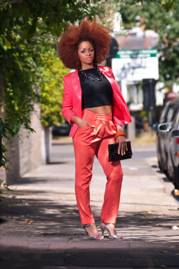 The Coral Cigarette Trousers & Blazer Business Suit