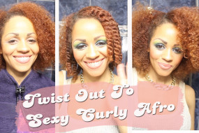 Natural Hair Journey: Big Sexy Curly Afro Tutorial