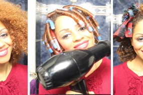 Natural Afro Hair Journey: Flexy Rod Cork Screw Cu